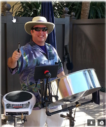 Keith Barbrie is widely recognized as one of the top steel drummers in Florida.  He frequently performs at country clubs, hotels, festivals and private events.